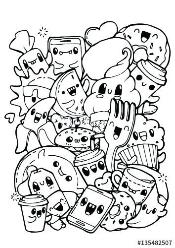 Doodle Art Coloring Pages Doodling Coloring Pages Dining Doodles