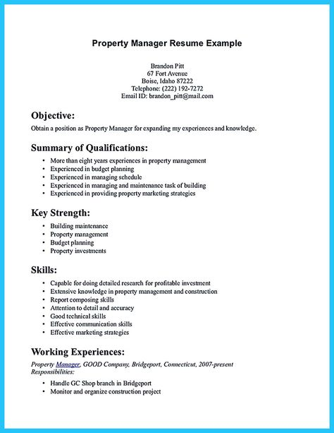 Professional Resume Template @creativework247 Templates - property manager resume example