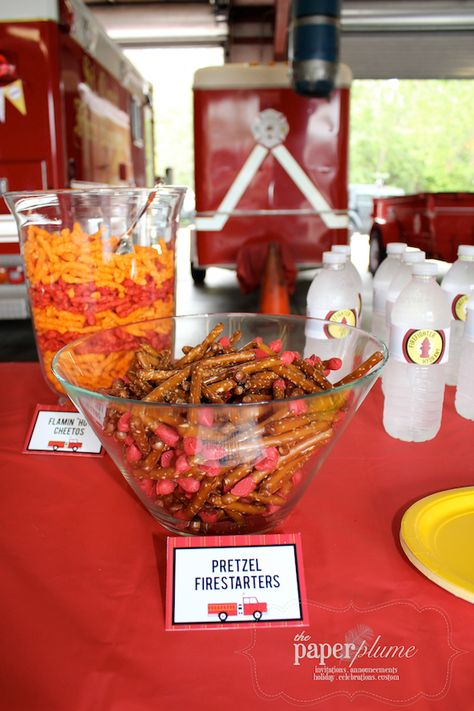 The Paper Plume Fire Truck Party