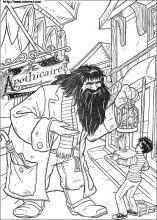 Coloriage Harry Et Hagrid Coloriage Harry Potter Coloriage