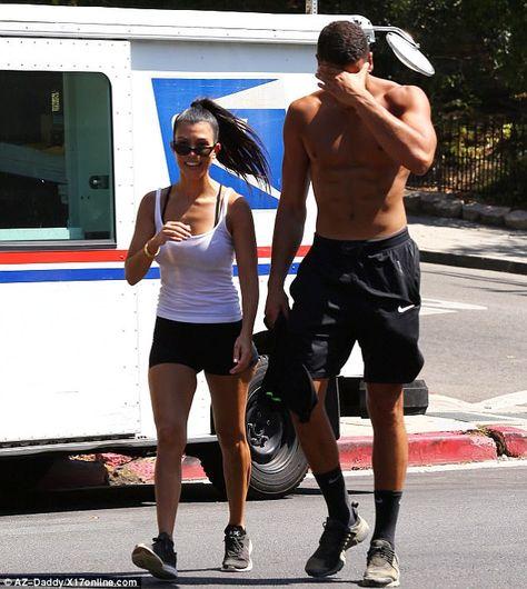 Kourtney Kardashian Twinned with Boyfriend Younes Bendjima During a Hiking Date