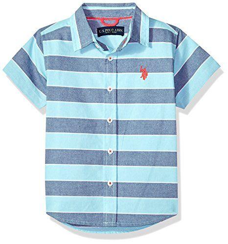Mens Short Sleeve Striped Sport Shirt POLO ASSN U.S