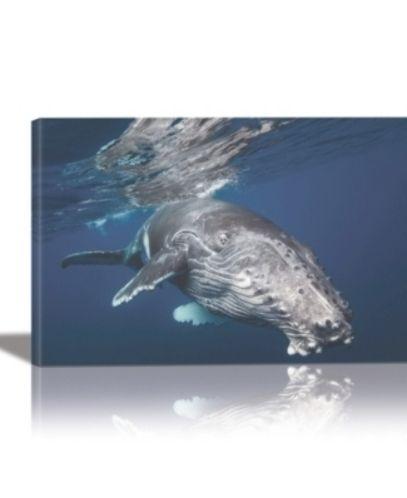 Eurographics Humpback Whale Framed Canvas Wall Art Multi