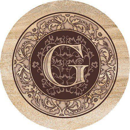 Thirstystone Monogram Letter G Sandstone Coasters Set of 4 | eBay