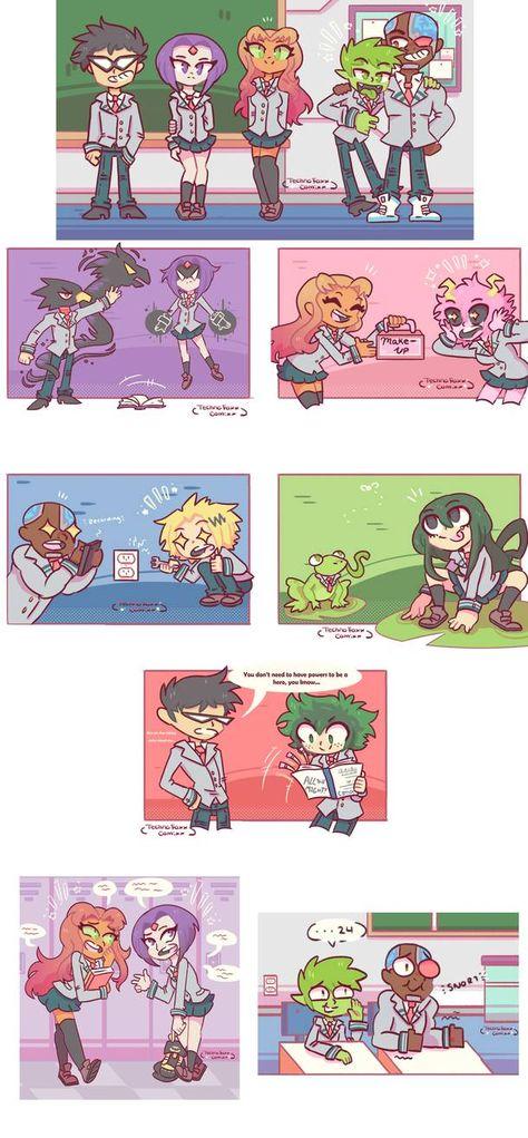 Teen Titans x My Hero Academia Crossover by TechnoFoxxComixx on DeviantArt
