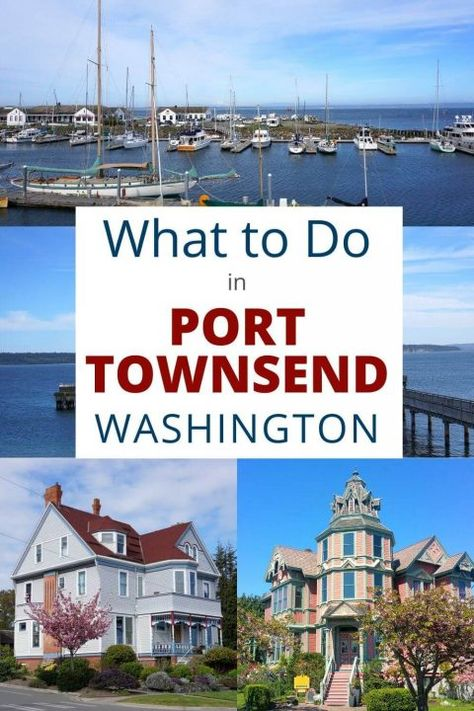 One of the prettiest towns in the United States. Port Townsend Washington is located in the Puget Sound, an inlet of the Pacific Ocean. Port Townsend Washington, Washington State, Washington Camping, Solo Travel, Travel Usa, Oregon Travel, Road Trip Hacks, Road Trips, San Juan Islands