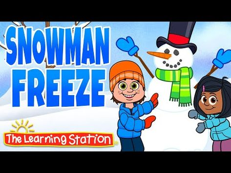 Snow Man Freeze Song ⛄️ Freeze Dance ⛄️ Winter Song for Kids ⛄️ Brain Breaks by The Learning Station Kindergarten Songs, Preschool Music, Winter Songs For Preschool, Snow Activities, Preschool Activities, Movement Activities, Preschool Education, Snow Theme, Winter Theme