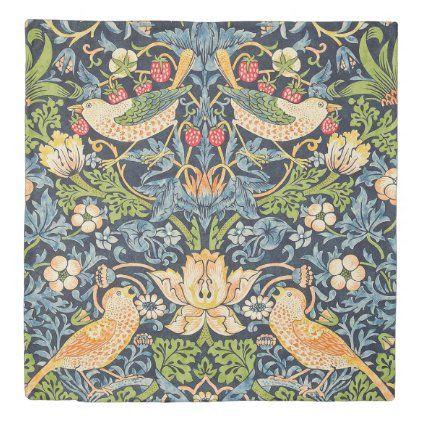 William Morris Strawberry Thief Floral Pattern Duvet Cover Zazzle Com Floral Art Art Nouveau Pattern Pattern Art