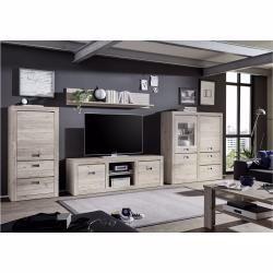 Stylefy Ravello Wohnwand Anbauwand Eiche Ancona In 2020 Entertainment Unit Long Living Room Wall Unit
