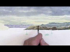 Comment Peindre L Eau Les Reflets A L Aquarelle Youtube Kunst