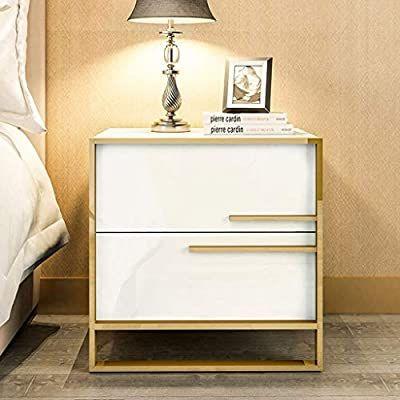 Amazon Com Hmdjw Storage Unit Light Luxury Bedside Table Modern Minimalist Room Storage Bedside In 2020 Modern Bedside Table Luxury Bedside Table Bedside Table Design