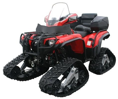 ATV with tracks; our new solution for working in winter.