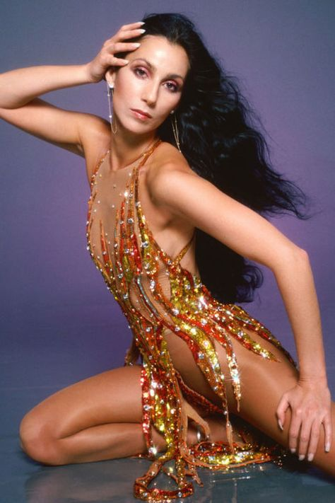 Bob Mackie: Dressing the Divas – Lisa's History Room Bob Mackie, The Cher Show, Cher Photos, I Got You Babe, Cher Bono, Raquel Welch, Poses, In Pantyhose, Celebrity Hairstyles