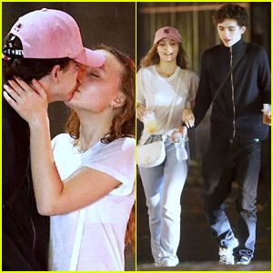 Timothee Chalamet Lily Rose Depp Kiss In New Photos Confirm