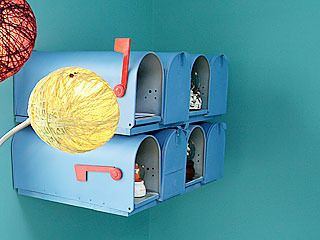 Mailboxes for playrooms.