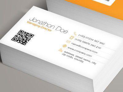 Qr Code Business Card Template Vol 2 Qr Code Business Card