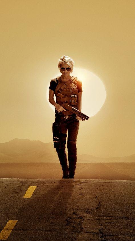 Linda Hamilton, Terminator: Dark Fate, 2019 movie, 1080x1920 wallpaper