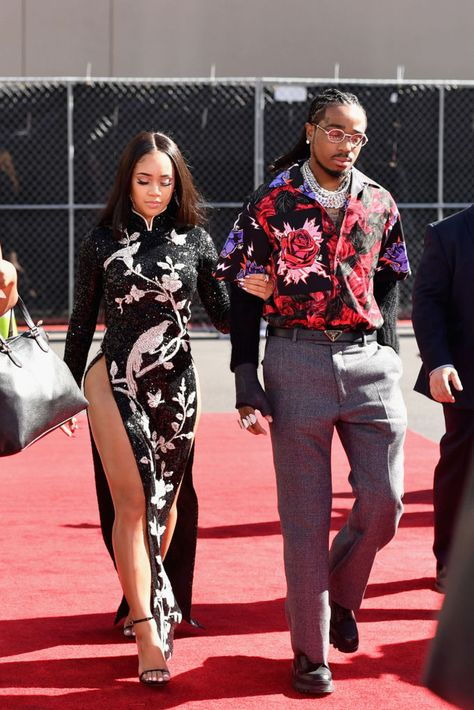 LAS VEGAS, NV - MAY 01: (L-R) Saweetie and Quavo of Migos attend the 2019 Billboard Music Awards at MGM Grand Garden Arena on May 1, 2019 in Las Vegas, Nevada. (Photo by Emma McIntyre/Getty Images for dcp)
