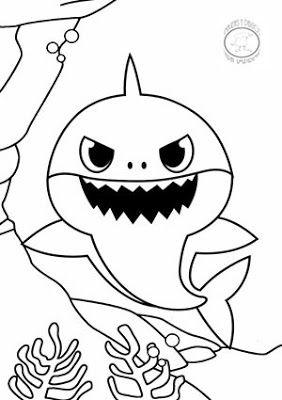 Dibujos De Baby Shark Para Colorear Imagenes Y Dibujos Para