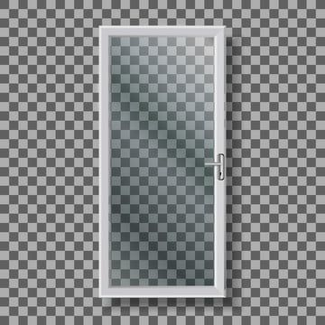 Glass Door With Handle And White Frame Vector Door Glass Handle Png And Vector With Transparent Background For Free Download Glass Door White Frame Frame