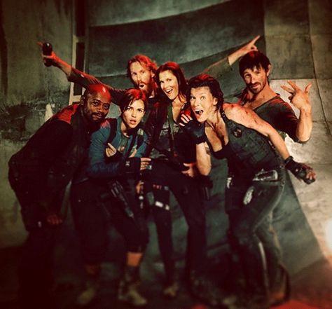 'Resident Evil: The Final Chapter': Nuevas imágenes del elenco divirtiéndose en el set de rodaje