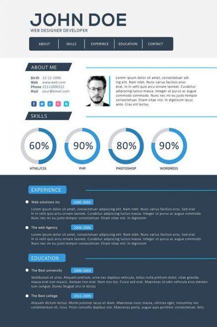 Trendy Design Website Portfolio Resume Templates 39 Ideas Web Developer Resume Web Designer Resume Portfolio Resume