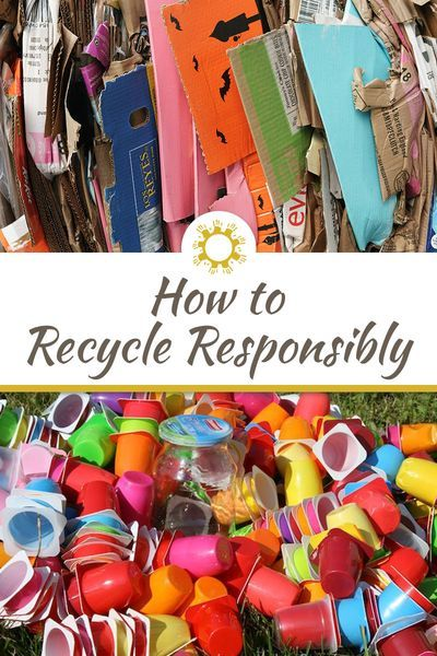How To Recycle Responsibly Recycling Green Living Tips Recycling Bins