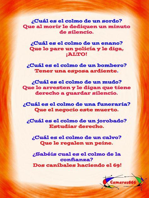 Los Colmos Mas Colmos Chistes Para Niños Chistes Poemas Dia Del Padre