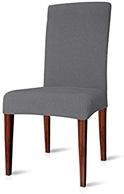 Amazon Com Chun Yi Dining Chair Covers Stretch Jacquard Polyester Spandex Anti Stain Washabl In 2020 Slipcovers For Chairs Dining Chair Covers Dining Chairs