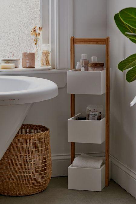 Bathroom Storage Cart In 2020 Small Bathroom Decor Small Bathroom Storage Diy Bathroom Storage