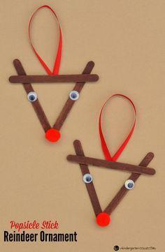 Popsicle Stick Reindeer Kid Christmas Ornament