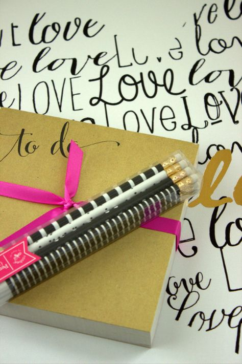 Notepad and pencils from @marshalls