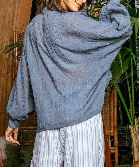 172f8bf5f34 Jupee | Light Blue Tie-Front Open Cardigan - Women | Fashion | Open ...