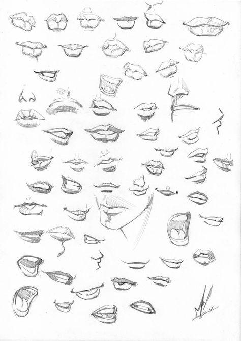 Photo of mund zeichnen bleistift