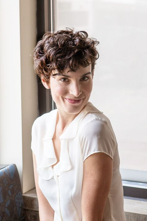 3 Chic & Easy Ways To Style Short Hair #refinery29  http://www.refinery29.com/50513#slide19  These curls look natural, playful — and very sexy, in our opinion.