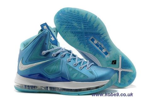 e0da0f44885e5 Nike Lebron X Blue Diamond 542244 400 Sale
