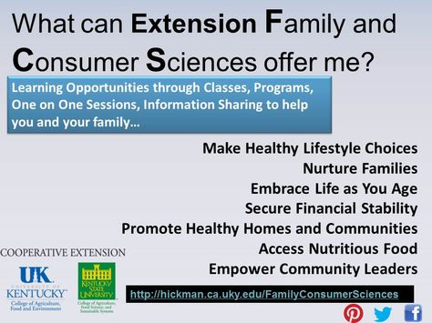 What can Extension FCS offer me?