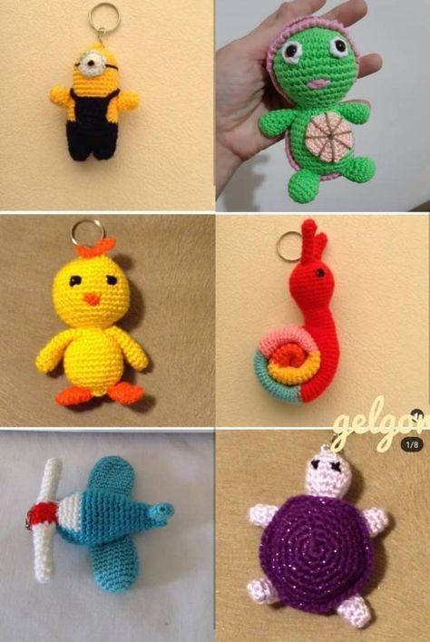 Ideas de llavero de ganchillo {que hacen regalos hechos a mano de ... | 708x474