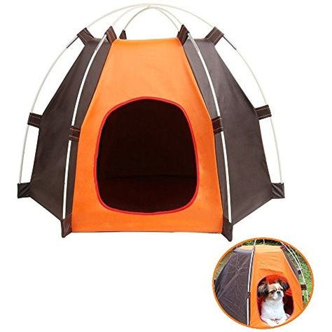 Portable Pet C&ing Tent Outdoor Play Tent House for Dogs Cats Puppy Kitty - Foldable Waterproof Play Toy House Tent Bed Crate for Small Animal *** For ...  sc 1 st  Pinterest & Portable Pet Camping Tent Outdoor Play Tent House for Dogs Cats ...