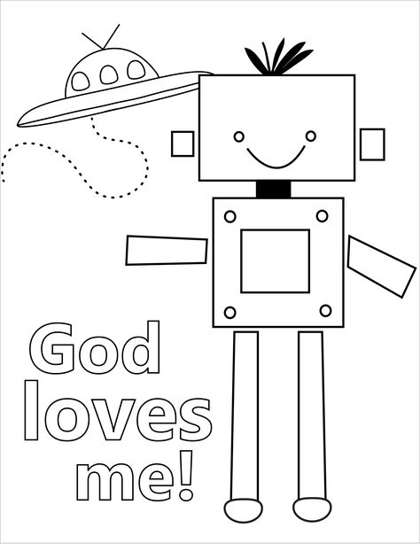 god loves me colouring page coloring