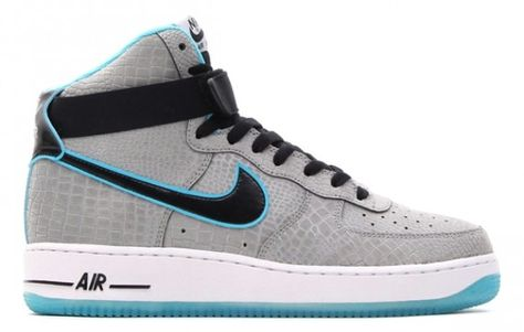 info for ad84d d34fc Nike Air Force 1 High  Reflective Silver Croc Black Gamma Blue