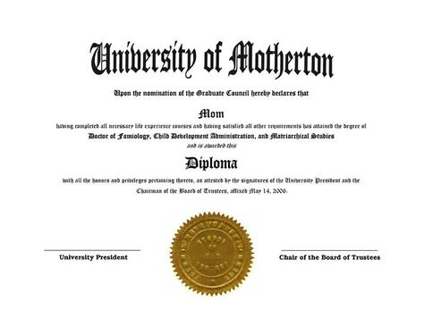 Fake Diplomas And Degrees Fun Gag Novely Diplomas And Degrees