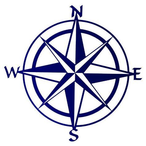 """20"""" Blue Compass Rose Metal Wall Art"""