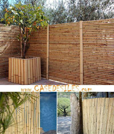Les 25 meilleures idées de la catégorie Palissade bambou sur ...