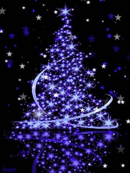 Гиф открытки новогодние елки