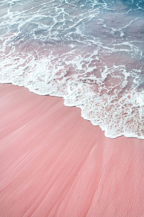 Pastel Beach Art Print Ocean Photography Pink Ocean Print Beach