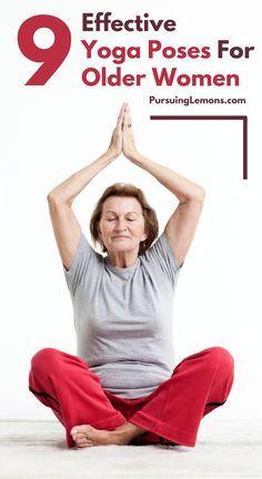 Yoga for Older Women: 9 Effective Asanas Pursuing Lemons Yoga Fitness, Fitness Workout For Women, Senior Fitness, Yoga Bewegungen, Yoga Moves, Yoga Exercises, Yoga Flow, Exercises For Seniors, Vinyasa Yoga