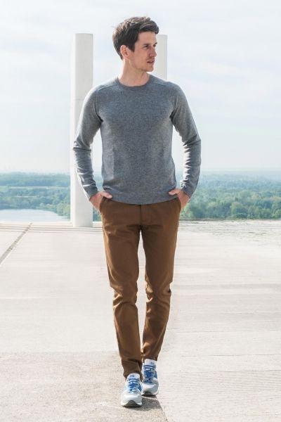 LePantalon : pantalon chino sport marron