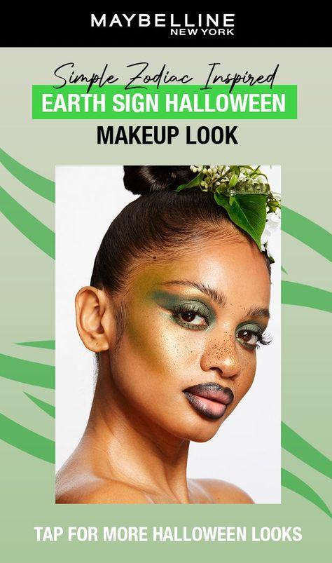 We can always count you Taurus, Virgo, and Capricorn to keep us grounded! Get this beautiful Earth sign-inspired look in just a few simple steps. First, apply Super Stay Matte Ink in Thrillseeker. Next, pick up our City Mini in 'urban jungle' and apply it around the eyes and cheekbones. With Color Strike Eyeshadow Pen shade 'hustle' outline around the brow bone. Lastly, create freckles with Tattoo Studio Liquid Liner. See all Zodiac Inspired Halloween looks in stores on display NOW at Walmart.