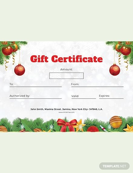 Free Formal Christmas Gift Certificate Template Ad Sponsored Ch Christmas Gift Certificate Gift Certificate Template Christmas Gift Certificate Template